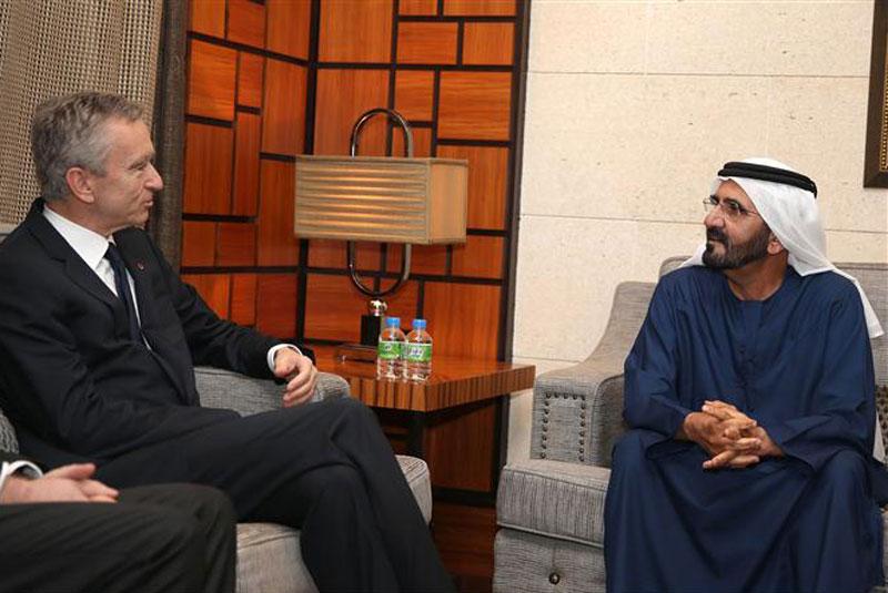 Mohammed bin Rashid receives French businessman Bernard ...
