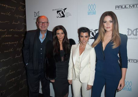 Kim Kardashian, Kourtney Kardashian and Khloe Kardashian attend Generation NXT Charity Benefit at 1OAK. (Photo by Getty Images)