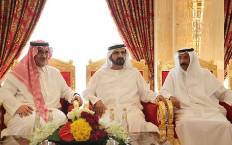 His Highness Sheikh Mohammed bin Rashid Al Maktoum receives Prince Nawaf bin Faisal bin Fahd bin Abdulaziz Al Saud (Wam)