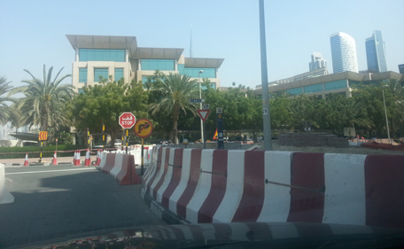 Roads around Safa Park and emirates247.com DMI offices have been barricaded due to the project work. (Pic: Majorie Van Leijen)