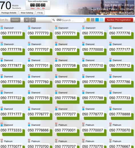 Etisalat auction: How much for 050-7777777 VIP number