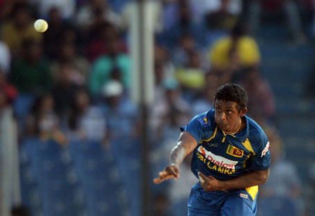 Sri Lanka spinner Ajantha Mendis struck crucial blows during Match four of the Asia Cup one-day international cricket tournament between India and Sri Lanka at Fatullah, Dhaka on February 28, 2014. (AFP)