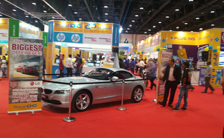 On offer at the expo ate TV with car and car with TV deals. (Supplied)