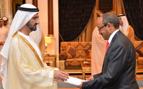 Mohammed receives ambassador of Federal Democratic Republic of Ethiopia (Wam)