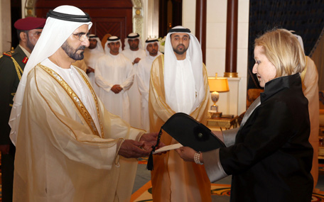 Mohammed receives of ambassador of Grand Duchy of Luxembourg (Wam)