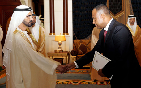 Mohammed receives ambassador of United Republic of Tanzania (Wam)