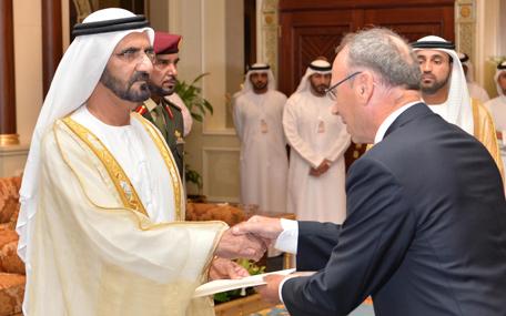 Mohammed receives ambassador of Republic of Ireland (Wam)