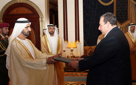 Mohammed receives ambassador of European Union (Wam)