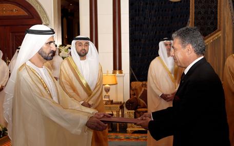 Mohammed receives ambassador of Arab Republic of Egypt (Wam)