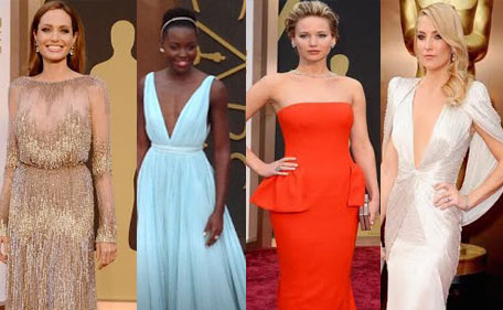 This compiled picture is from last year's Oscar Awards 2014. Designers says, the best looks of the award season is always saved for last. (Agencies)