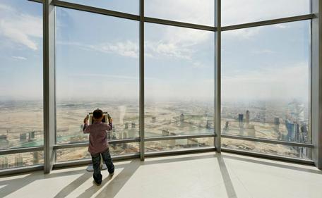 Burj Khalifa observation desk.