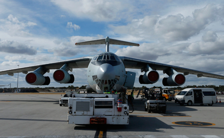 A Chinese Air Force Ilyushin Il-76 aircraft used in the search for Malaysia Airlines flight MH370 is pictured on the tarmac of Perth International Airport, March 31, 2014 following a flight to the Indian Ocean. Australian Prime Minister Tony Abbott said on Monday the hunt for Malaysia Airlines Flight MH370 had no time limit, despite the failure of an international operat ion to find any sign of the plane in three weeks of fruitless searching. (REUTERS)
