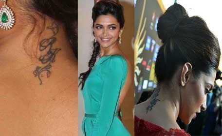 Up close with Deepika's Ranbir tattoo; Sussanne erases ...