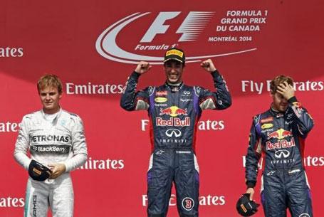 Australian Ricciardo takes his first F1 win in Canada ...