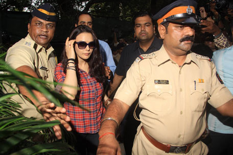 Preity Zinta gives Police statement in Mumbai's Wankhede stadium. (SANSKRITI MEDIA AND ENTERTAINMENT)
