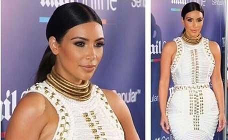 Reality star Kim Kardashian at Cannes. (Instagram)