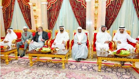 Sheikh Mohammed received guest preachers and scholars of the UAE President and of Dubai International Holy Quran Award (DIHQA) at Zabeel Palace. (Supplied)