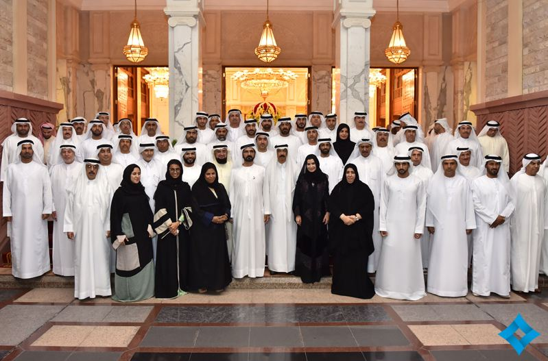Mohammed receives Federal National Council (FNC) Speaker & Members at Zabeel Palace. (www.sheikhmohammed.co.ae)