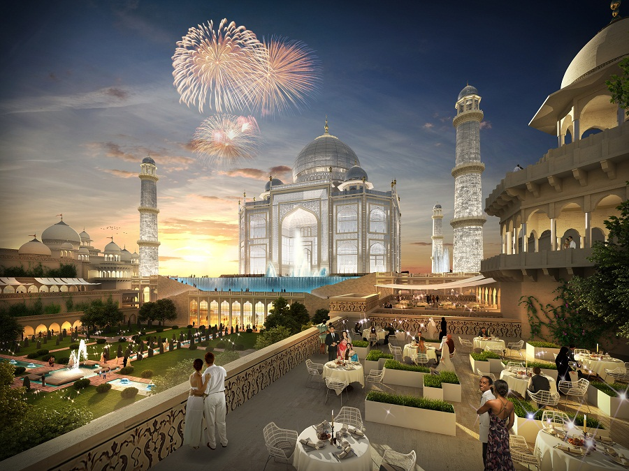 Taj mahal replica in dubai taaj arabia to open in 2017 for Dubai hotel name