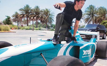 Video: Watch Hrithik Roshan race F1 car on 'busy' Abu Dhabi
