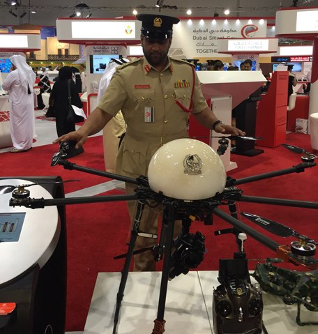 Speed radar could be installed in a drone that flies over Dubai roads. (Supplied)