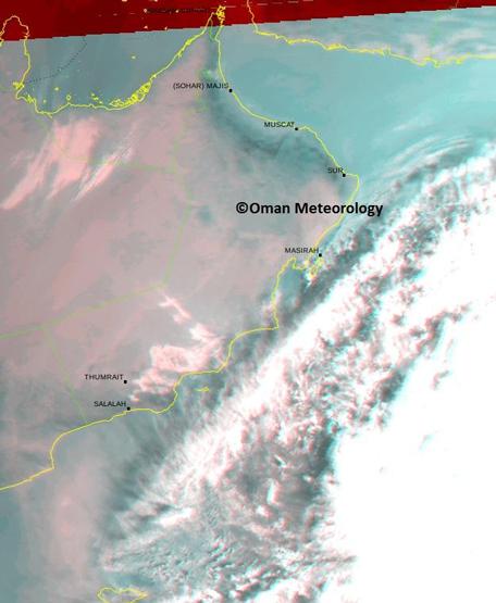 Cyclone Nilofar curving towards Oman. (Supplied)