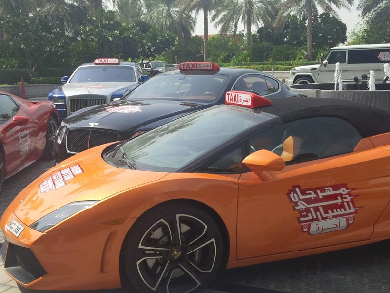 The Supercar Taxi is the latest in car luxury that will shift gear for Dubai roads, offering residents and tourists a ride of their lives for free.