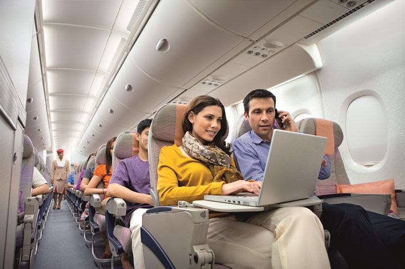 Αποτέλεσμα εικόνας για Who gets free inflight Wifi on Emirates?