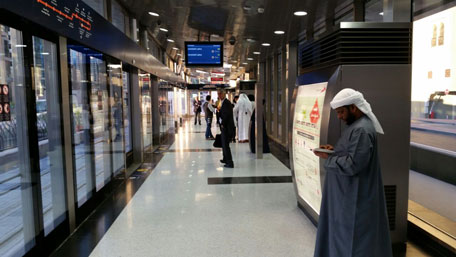 Dubai tram was officially inaugurated this month. (Majorie van Leijen)