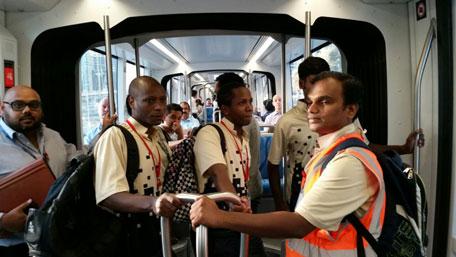 Dubai tram officially inaugurated last evening. (Majorie van Leijen)