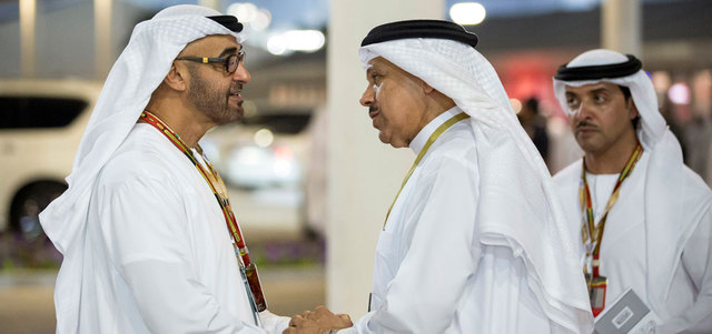 General Sheikh Mohamed bin Zayed Al Nahyan at the Formula One race. (Supplied)