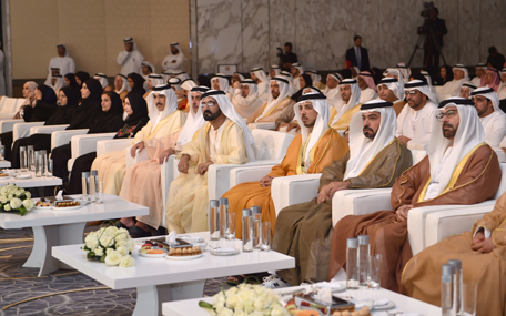 Sheikh Mohammed bin Rashid honoured UAE's 43 pioneers to mark the country's 43rd National Day, in Abu Dhabi on Monday. (Wam)