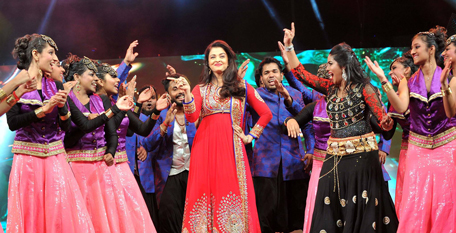 Aishwarya Rai Bachchan takes stage at the Sharjah event. (Supplied)