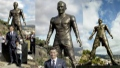 الصورة: Cristiano Ronaldo statue removed before World Cup success
