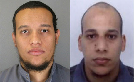 This handout photo released by French Police in Paris early on January 8, 2015 shows Said Kouachi, aged 34, and Cherif Kouachi, aged 32, a suspect wanted in connection with an attack at a satirical weekly in the French capital that killed at least 12 people. (AFP)
