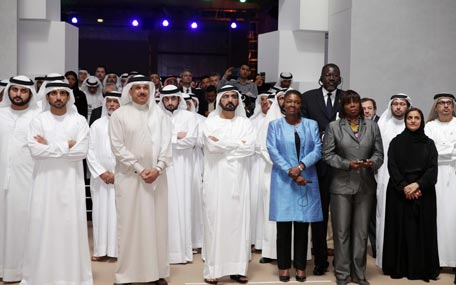 Sheikh Mohammed launches the 2015-2021 strategy for the International Humanitarian City at its headquarters in Dubai on Monday (Wam)