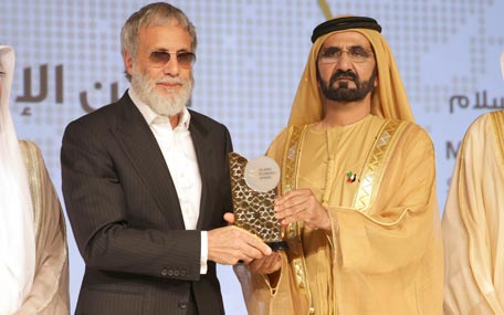 Sheikh Mohammed bin Rashid honoured winners of the 2nd Islamic Economy Award in Dubai on Wednesday. (Wam)