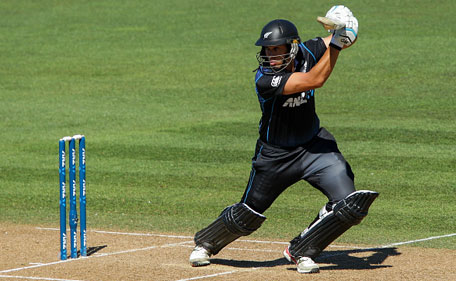 Ross Taylor of New Zealand bats during the One Day International match between New Zealand and Pakistan at McLean Park on February 3, 2015 in Napier, New Zealand. (Getty)