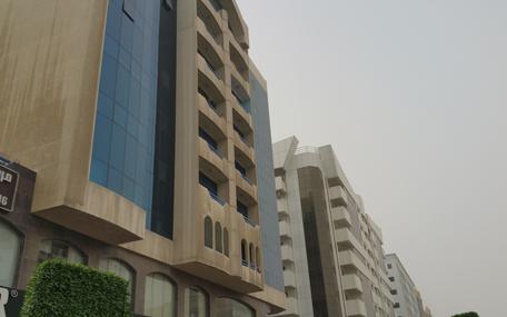 The building on Muraqabat Street from where the man fell. (Meesha Kapoor)