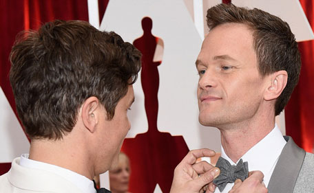 Host for the evening Neil Patrick Harris and David Burtka at the Red Carpet.