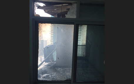 Floor 51 where the fire started. This apartment is currently uninhabitable. (‎Pic by Andrew Rankin)
