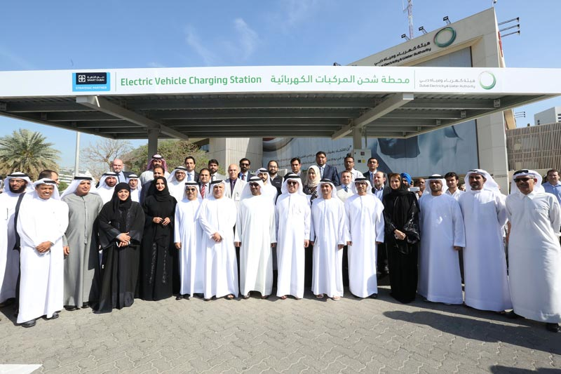 The first electric vehicle charging station in Dubai was inaugurated at Dewa's main office on Wednesday. (Supplied)