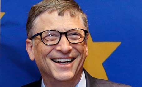 Microsoft founder Bill Gates is seen at the EU Commission headquarters in Brussels, in this file photo taken January 22, 2015.    Gates stands atop Forbes magazine's annual list of the world's richest people, as Facebook Inc's Mark Zuckerberg joined the top 20 and basketball star Michael Jordan plowed new air by making the list for the first time. (Reuters)