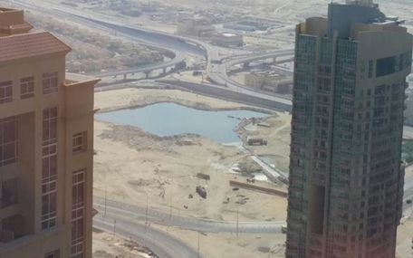 The alleged dump sites between JLT and Jumeirah Park. This picture was taken a couple of month ago. (Majorie van Leijen)