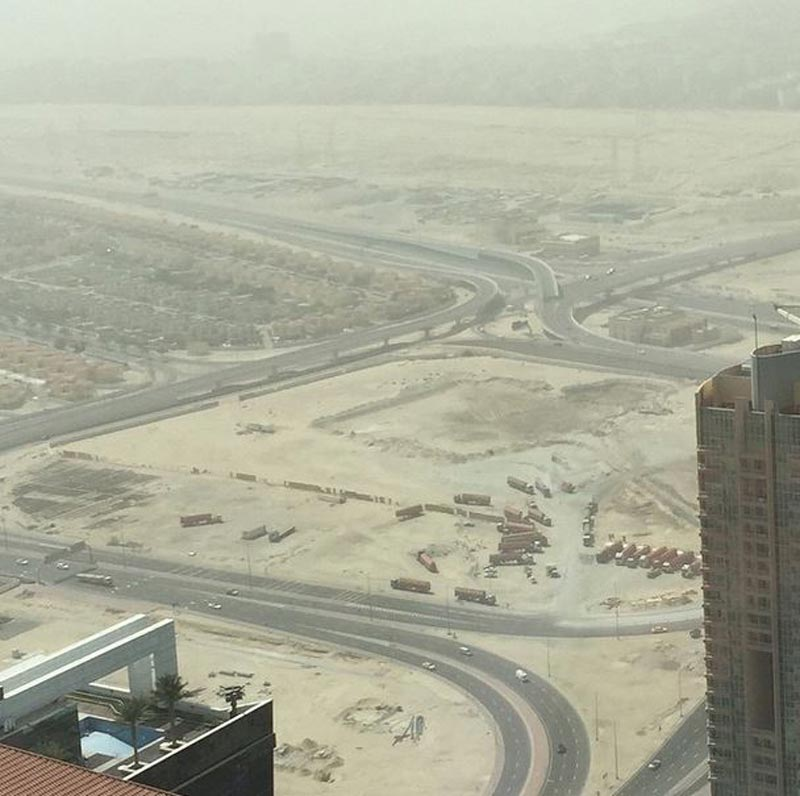 The view from JLT. (Picture by Ahmed bin Sulayem on Instagram)