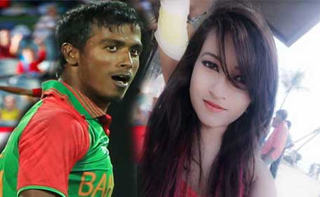 Naznin Akter Happy(R) made rape allegation on Rubel Hossain after claiming cricketer had reneged on a promise of marriage. (Reuters/Facebook)