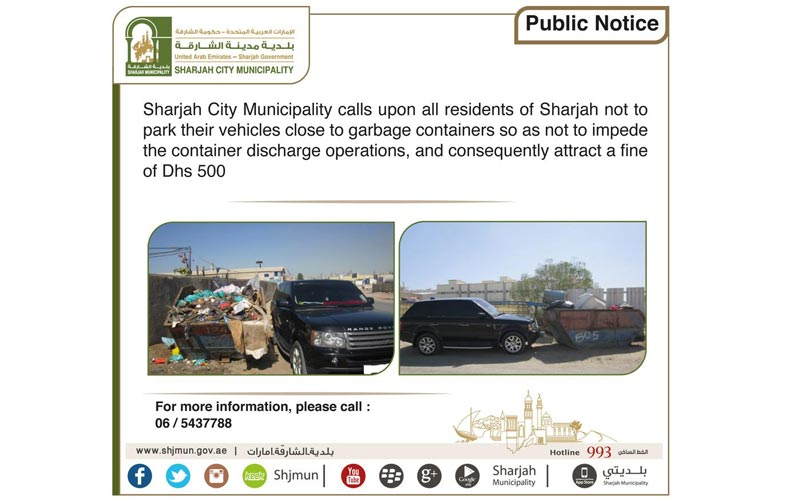 New Dh500 fine for Sharjah's 'trashy' drivers - Emirates24|7