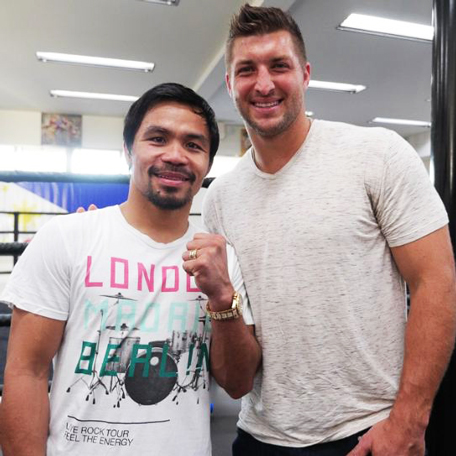 Manny Pacquiao and Tim Tebow. (Pic credit:Emmanuel Pacquiao/Instagram)