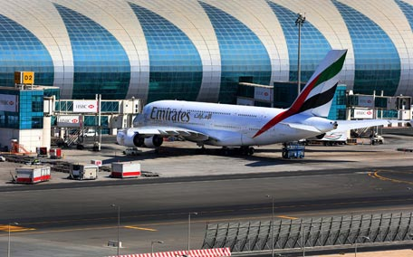 Dubai International Airport had a total of 15,098 A380 flights to 39 destinations around the world during 2014. (Supplied)