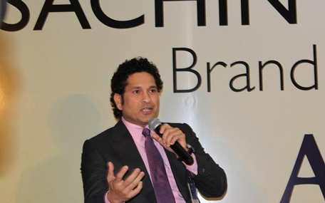 Sachin Tendulkar in Dubai said 'defenders are ready to defend' when asked about India's world cup chances. (Bindu Rai)